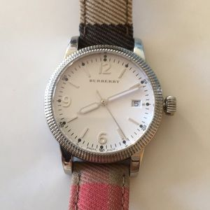 Burberry watch with nova check band
